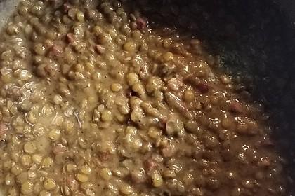 Schwäbische Linsen im Schnellkochtopf