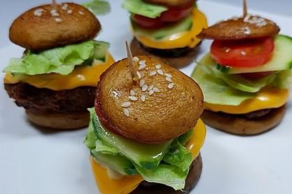 Low carb Champignon Burger