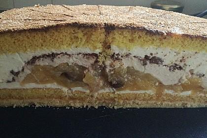 Bratapfel-Zimt-Käsesahne-Torte