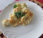 Käse-Makkaroni-Auflauf mit Brokkoli und Blumenkohl (Bild)