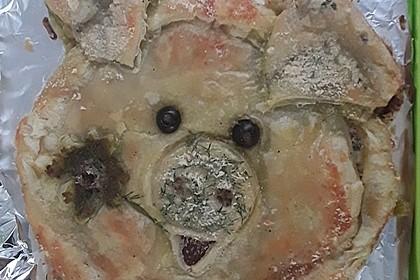 Pikantes Blätterteigschwein