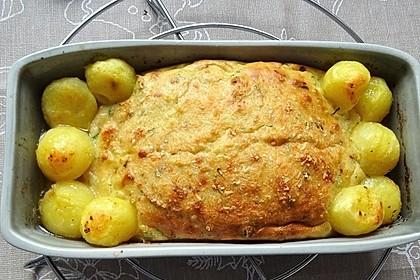 Wildlachsfilet mit feiner Kartoffelkruste und Kartoffelkugeln à la Didi