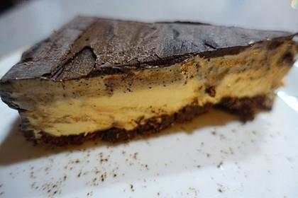 Gefrorene Orangen- und Espressomousse - sehr elegantes Dessert auch ohne Eismaschine (Bild)