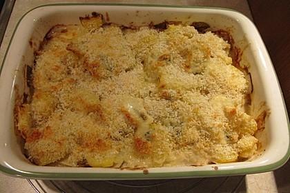 Chicoree mit Kartoffeln und Gorgonzola