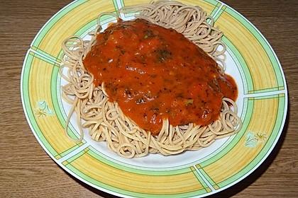 Soja-Spaghetti Arrabbiata à la Didi