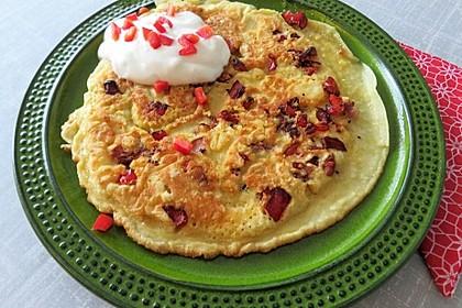 Paprika-Pfannkuchen mit Joghurtdip