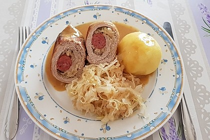 Schweinerouladen herzhaft gefüllt (Bild)
