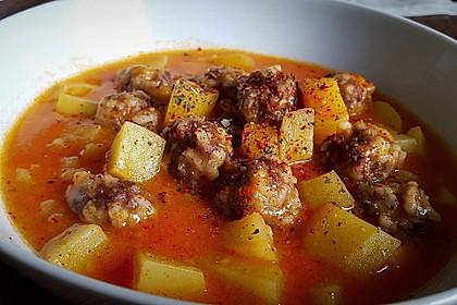 Sulu Köfte - Türkischer Eintopf mit Hackbällchen und Kartoffeln