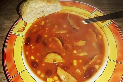 Schnelle Bohnen-Tomatensuppe