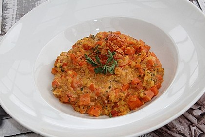 Möhren-Curry-Risotto
