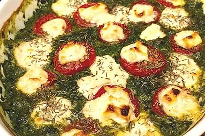 Spinat-Auflauf mit Tomaten und Schafskäse 1