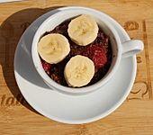 Veganes Beeren-Schoko-Porridge mit Banane (Bild)