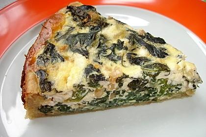 Quiche mit Spinat und Erdnüssen