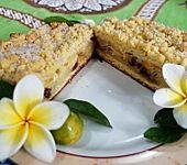 Gestreuselter Apfelkuchen mit Mango (Bild)