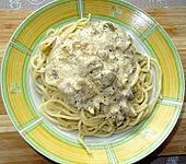 Spaghetti mit Artischocken-Sardellen-Kapern-Sahne-Sauce à la Didi (Bild)
