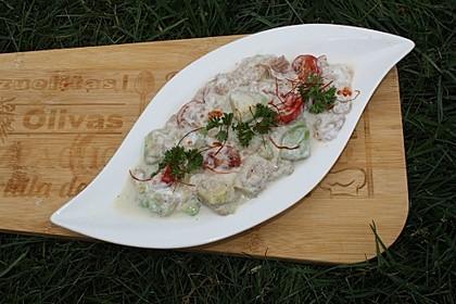 Thunfisch mit körnigem Frischkäse 1