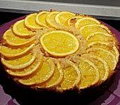 Orangenkuchen upside down - gestürzter Orangenkuchen (Bild)