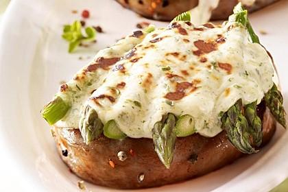Überbackene Spargel-Steaks