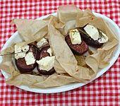 Süße Birnen herzhaft überbacken (Bild)