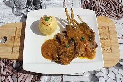 Rehrippe mit leckerer Sauce aus dem Slow Cooker
