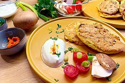Proteinreiche Dinkelpfannkuchen