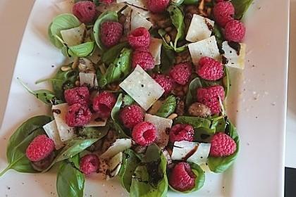 Sommersalat mit Pilzen und Himbeeren alla Bianka