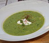 Vegane Zucchini-Lauch-Suppe (Bild)