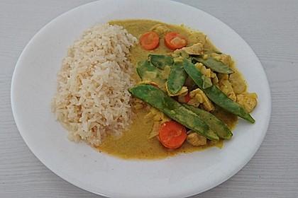 Curryhähnchen mit Reis (Bild)