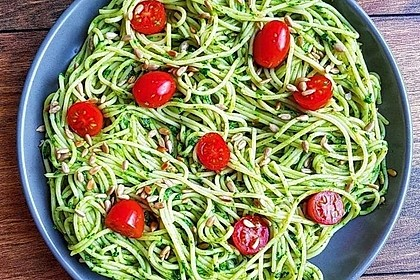 Pasta mit Spinat-Pesto