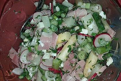 Spargelsalat weiß-grün mit Radieschen