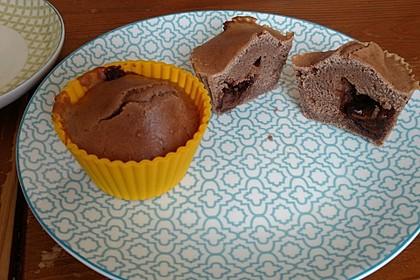 Schokomuffins mit Nutellakern (Bild)