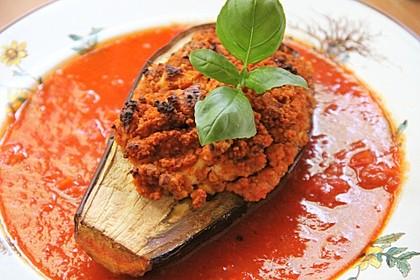 Gefüllte Auberginen mit Couscous 1