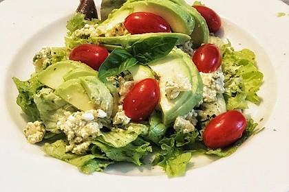Avocado - Hüttenkäse - Salat (Bild)