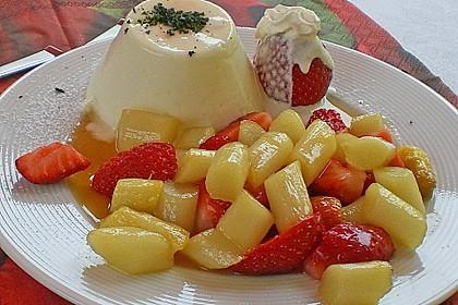 Karamellisierter Spargel mit Erdbeeren und Vanilleeis 9