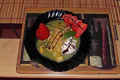 Karamellisierter Spargel mit Erdbeeren und Vanilleeis 6