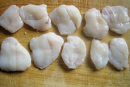 Seeteufelbäckchen an Bärlauchnudeln und Gemüsejulienne 1