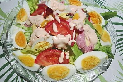 Würziger Chefsalat mit Schinkenstreifen 7