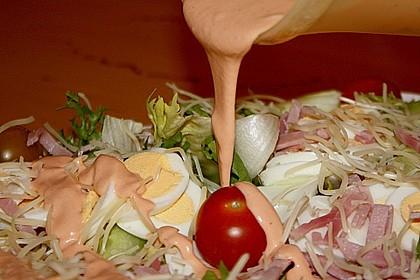 Würziger Chefsalat mit Schinkenstreifen 13