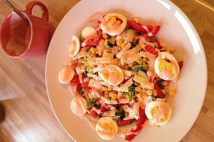 Würziger Chefsalat mit Schinkenstreifen 15