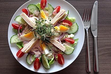 Würziger Chefsalat mit Schinkenstreifen 1