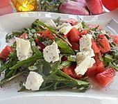 Melonensalat mit Rucola und Feta (Bild)