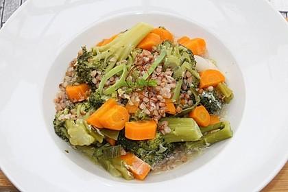 Buchweizen-Brokkoli-Möhren-Pfanne 1