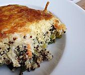 Lauchauflauf mit Möhre und Quinoa (Bild)