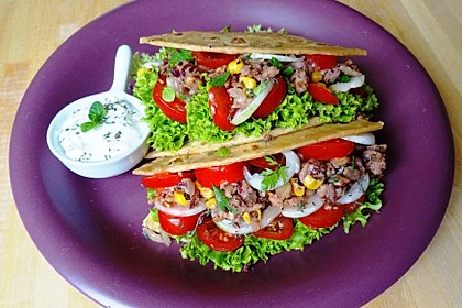 Vegane Tacos mit Walnussfüllung (Bild)