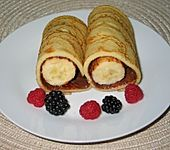 Nutella-Bananen-Crêpe-Rollen à la Didi (Bild)