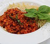 Rote Linsen-Bolognese (Bild)