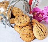 Sanddorn-Schokoladenkekse mit Banane (Bild)