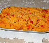 Backfischauflauf mit Paprika-Porreesauce  à la Didi (Bild)