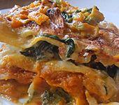 Kürbis-Spinat-Lasagne (Bild)
