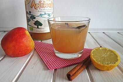 Apfelschorle mit Zimt und Zitrone (Bild)